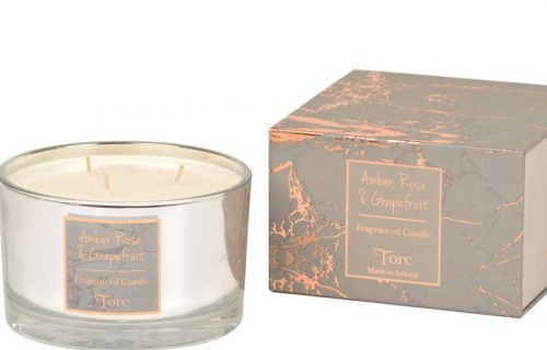 Torc Amber Rose and Grapefruit 3 Wick Candle