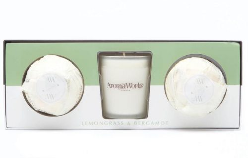 AromaWorks Light Range Candle and Bath Bomb Gift Set