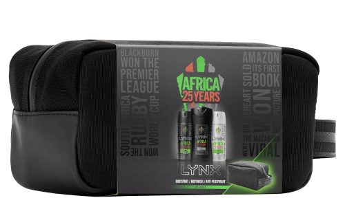 Lynx Africa 25 Years Washbag Gift Set