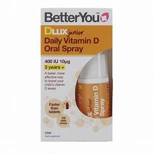 BetterYou Dlux Junior Daily Vitamin D Oral Spray 15ml
